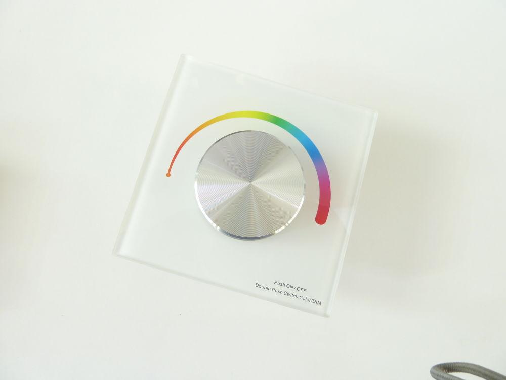 T-LED Nástenný ovládač dimLED pre LED pásiky RGB Farba:: biela 069212