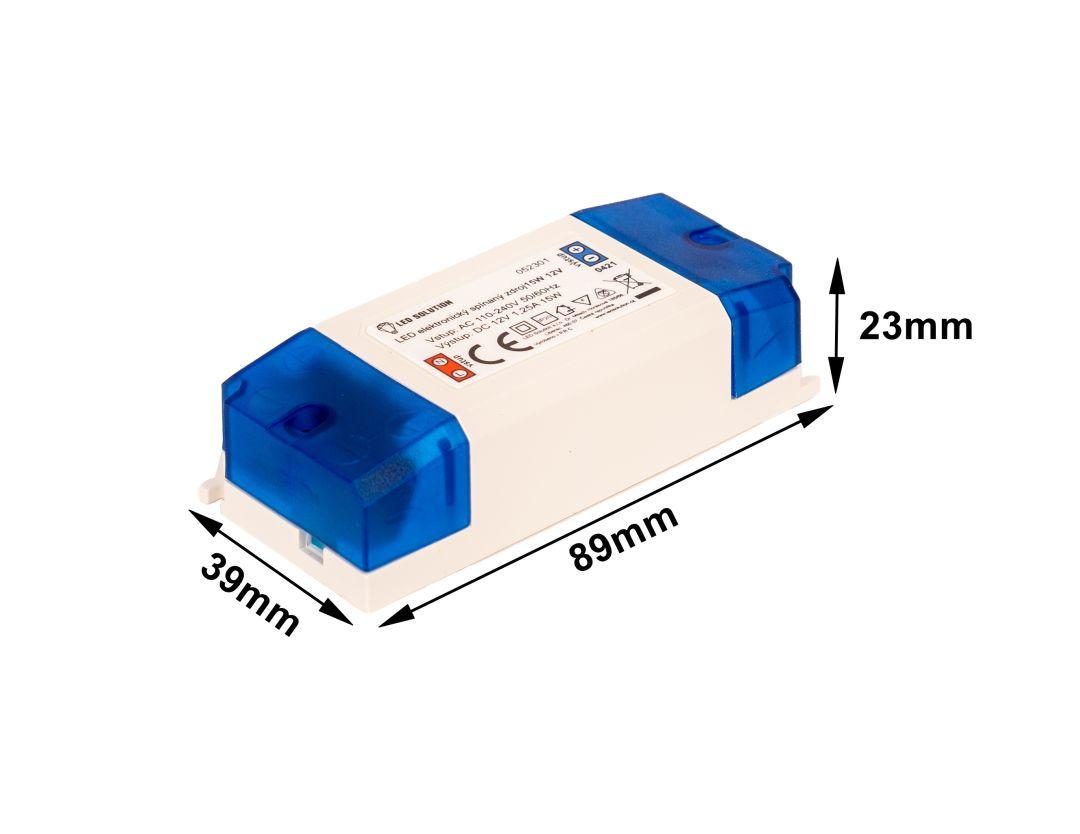 T-LED LED zdroj (trafo) 12V 15W vnútorný 052301