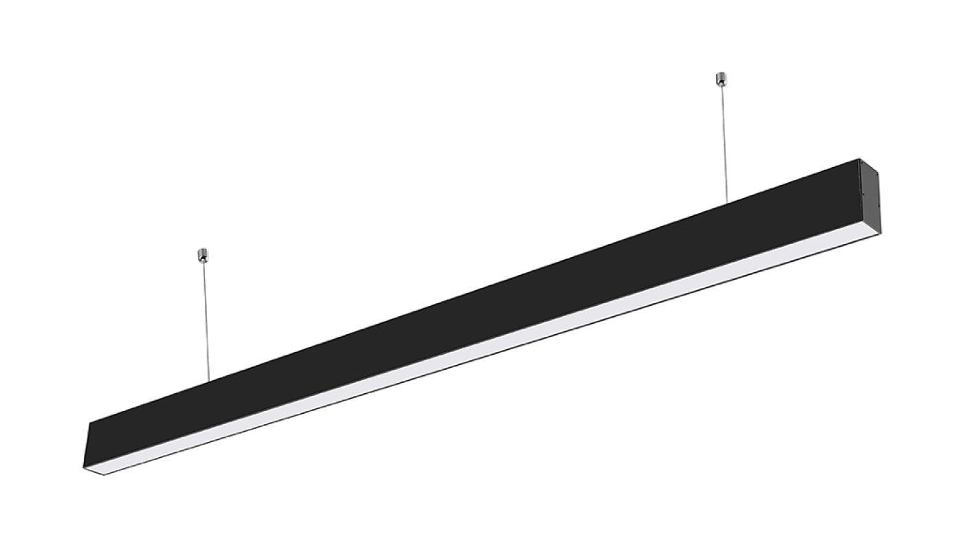 LED Solution Čierne lineárne závesné LED svietidlo 40W Premium Farba svetla: Teplá biela