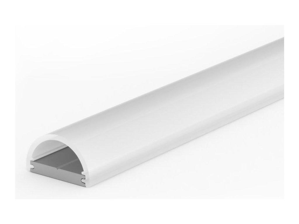 LED Solution Hliníkový profil pro LED pásky TUBE MINI varianty: Profil + Nacvakávací opálový kryt 1m