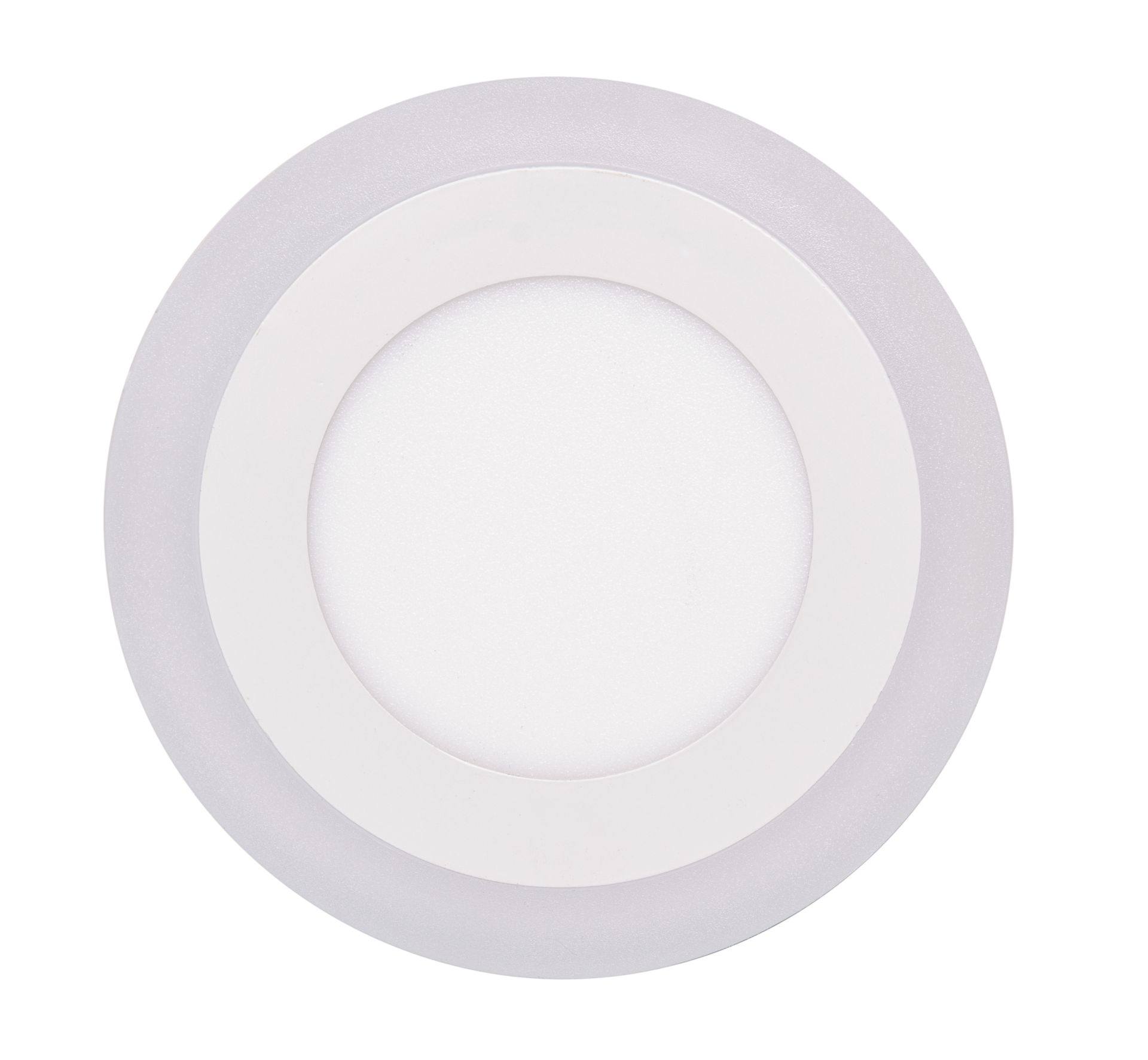 Solight Biely vstavaný LED panel guľatý 145mm 6W+3W podsvietený WD150