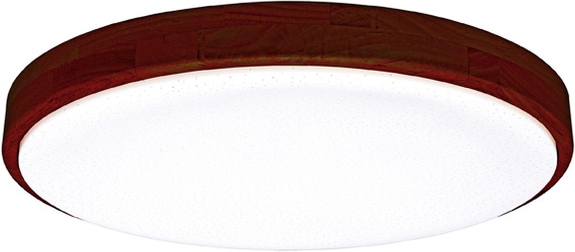 Ecolite LED stropné svietidlo 24W s tmavým dreveným rámčekom WLD400-24W/LED/TD