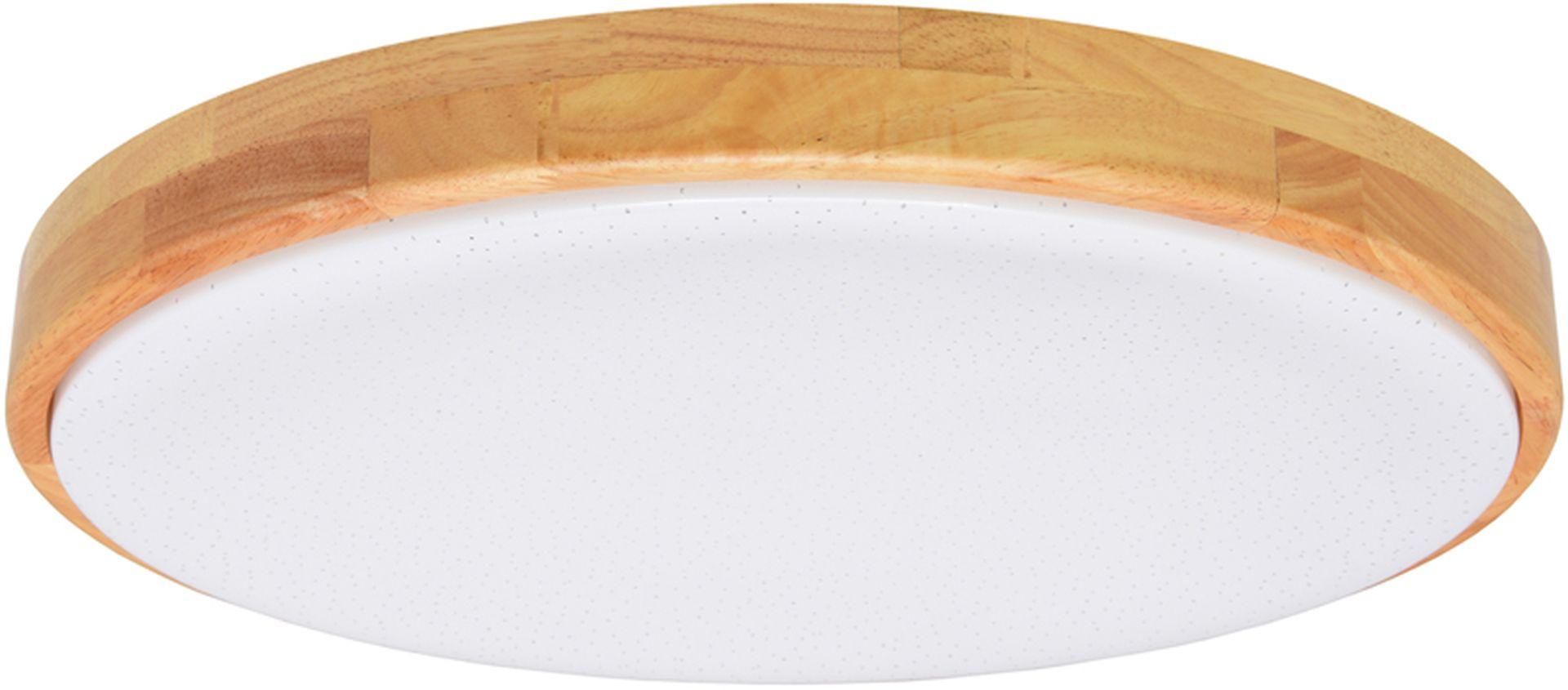 Ecolite LED stropné svietidlo 80W so svetlým dreveným rámčekom WLD600-80W/LED/SD