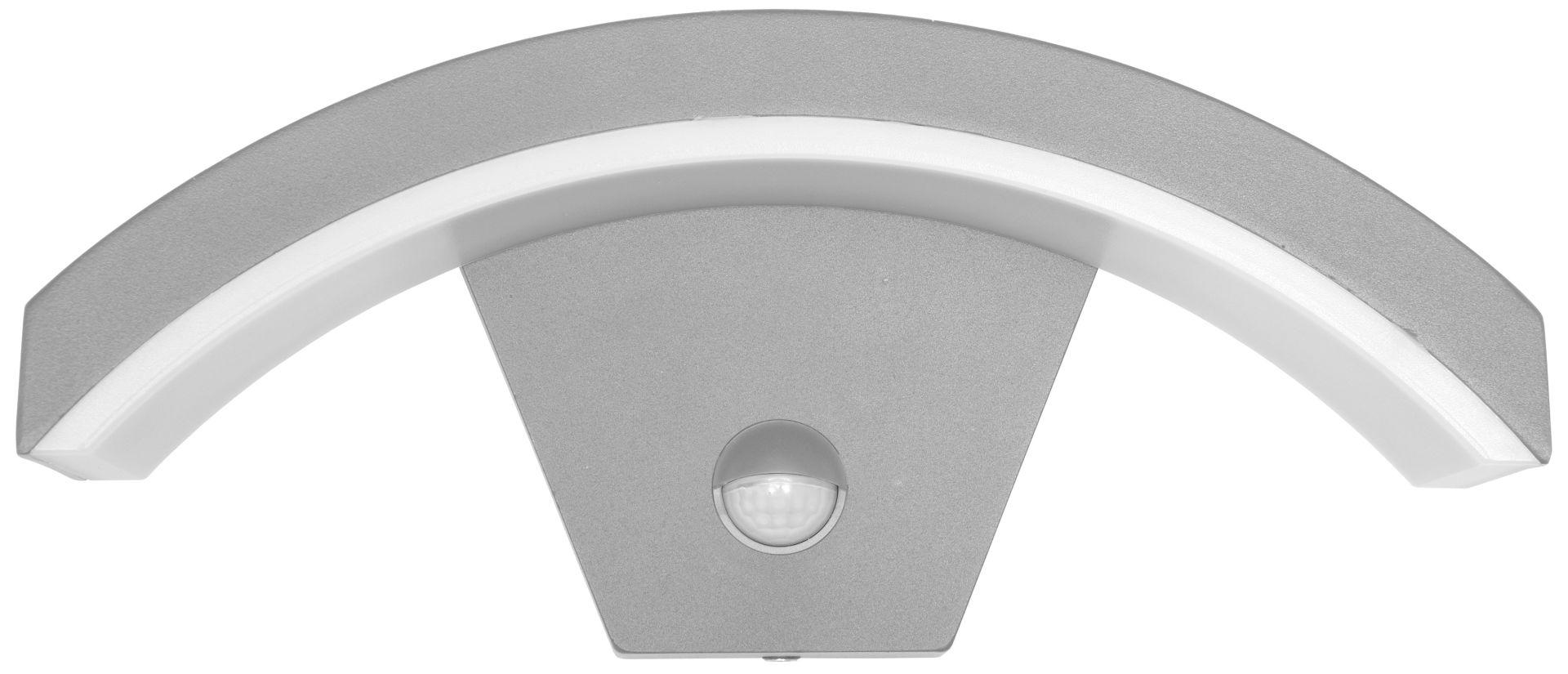 Ecolite Fasádne svetlo zahnuté nahoru s PIR čidlom šedej Z1107/PIR-SED
