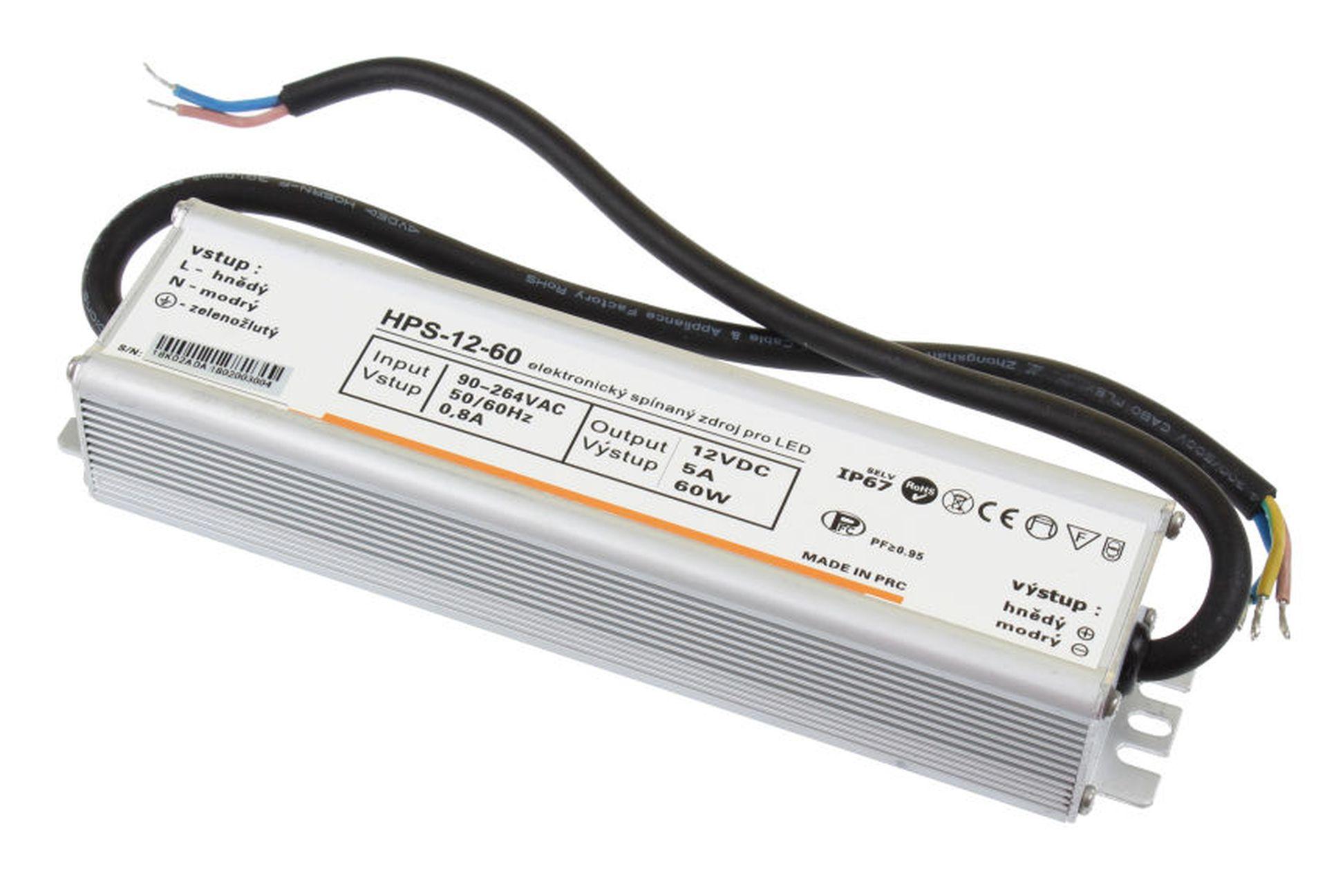T-LED LED zdroj (trafo) 12V 60W IP67 051122