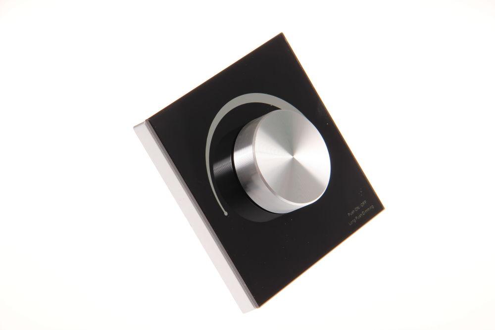 T-LED Nástenný triakový stmievač dimLED Farba:: čierna