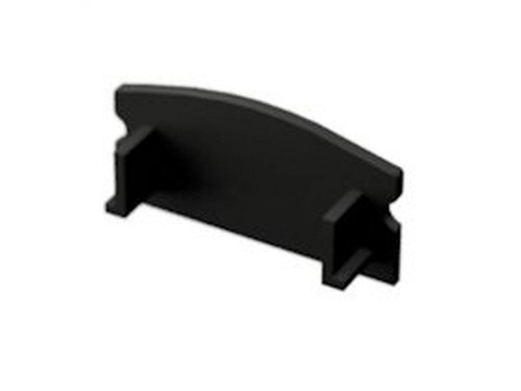 LED Solution Koncovka nástenného profilu N3 čierna varianty: plná