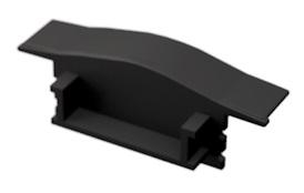 LED Solution Koncovka vstavaného profilu V1 čierna varianty: plná