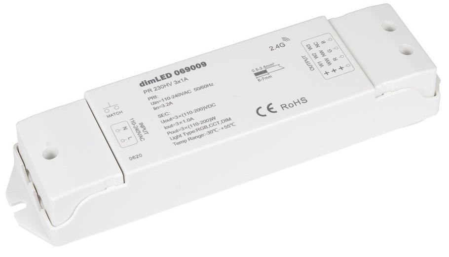 T-LED Prijímač dimLED pre LED pásiky a NEONy 230V 069009