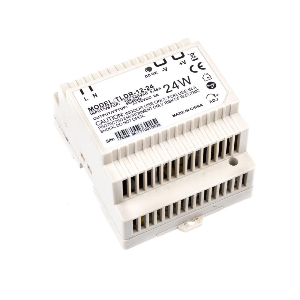 T-LED LED zdroj na DIN lištu 12V 24W
