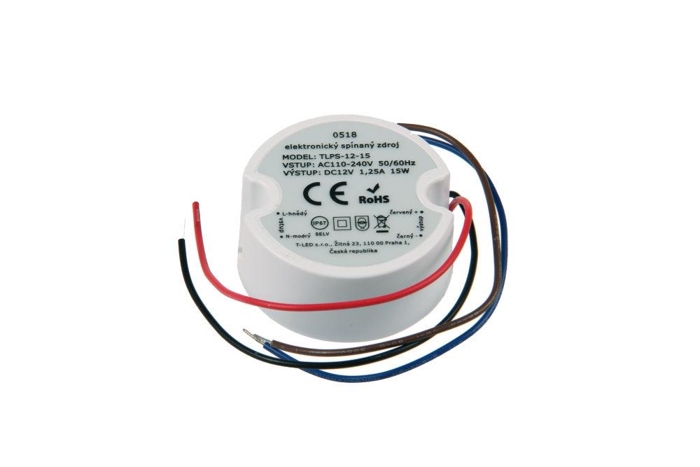 T-LED LED zdroj (trafo) 12V 15W IP67