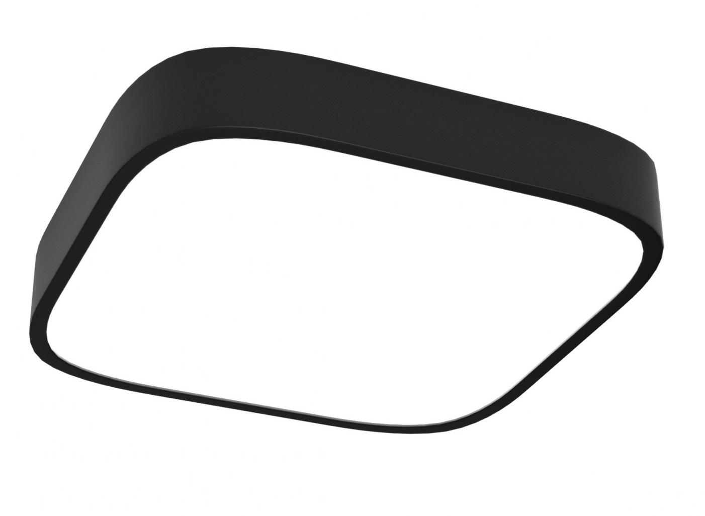 Immax Čierne SMART stropné svietidlo hranaté 36W 45cm 2