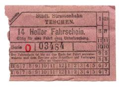 tramvajový lístek