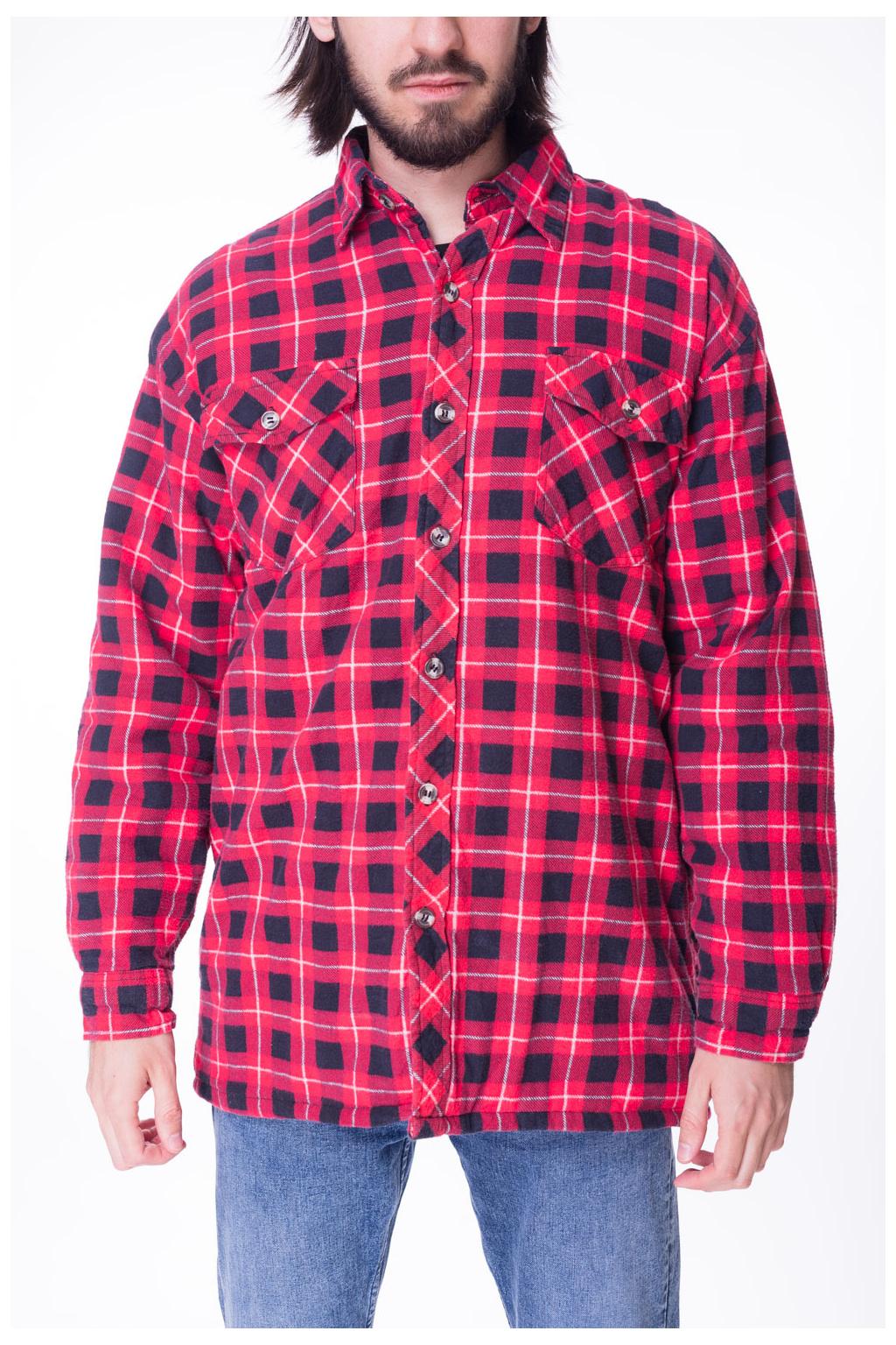 Košile Zateplená Červená