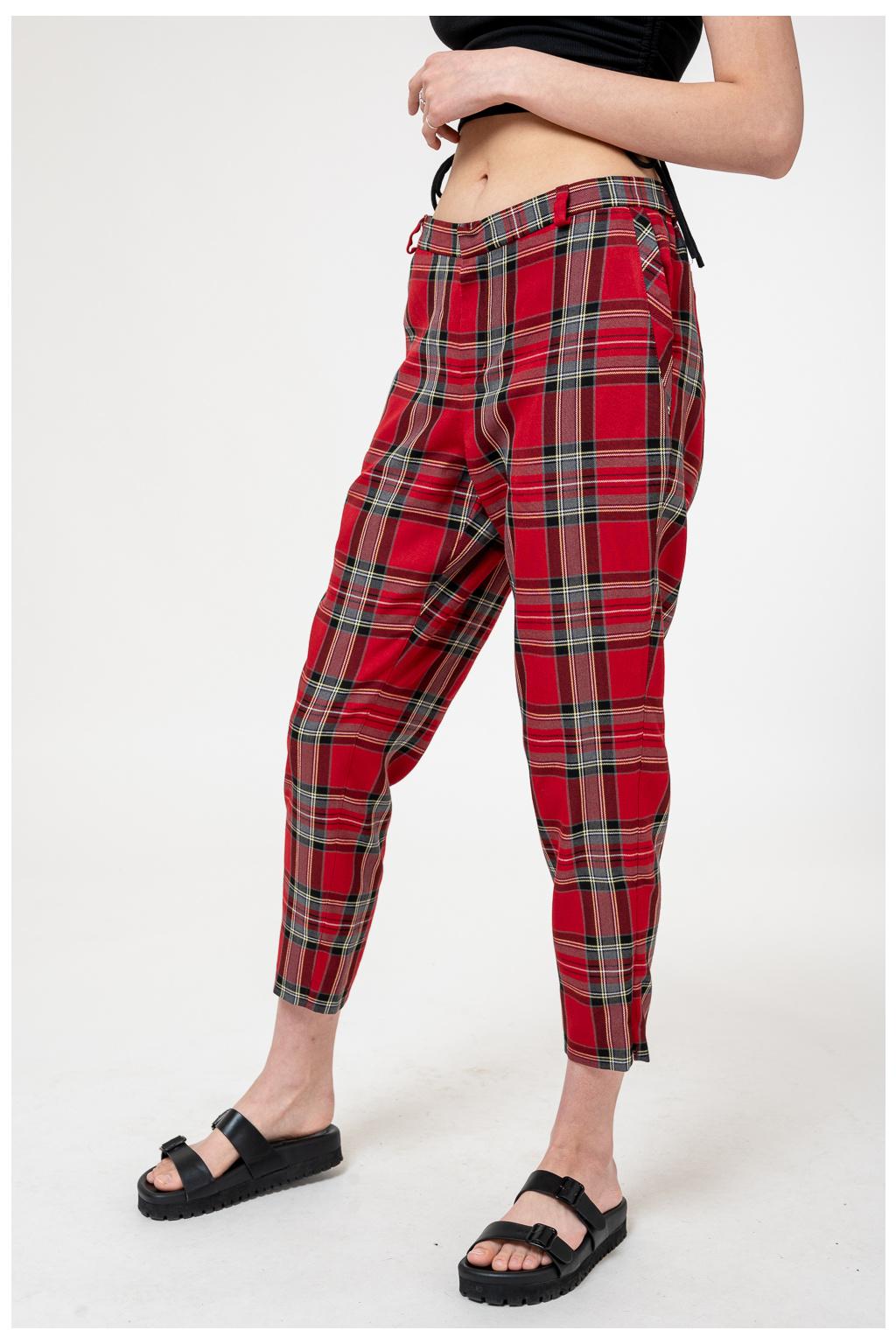 Červené Kárované Kalhoty