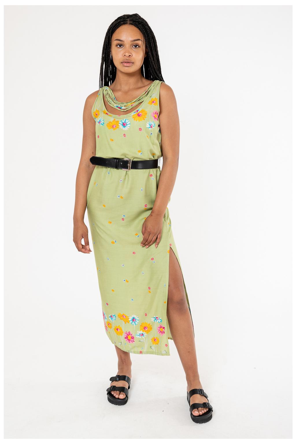 Zelené Květované Šaty
