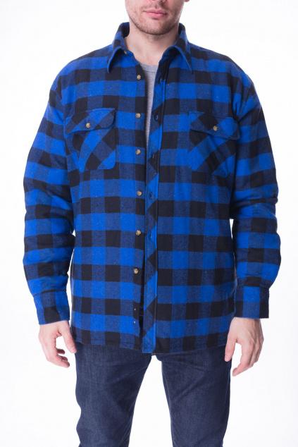 Košile Zateplená Modrá