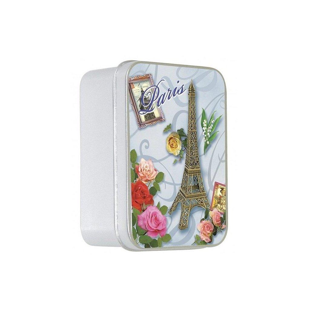 Toaletní mýdlo v kovové krabičce, Růže, 100g
