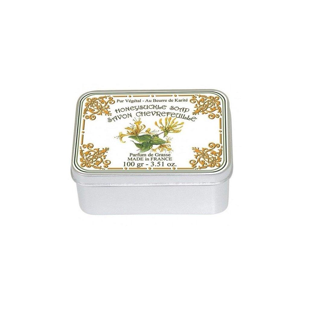 Toaletní mýdlo v kovové krabičce, Zimolez, 100g