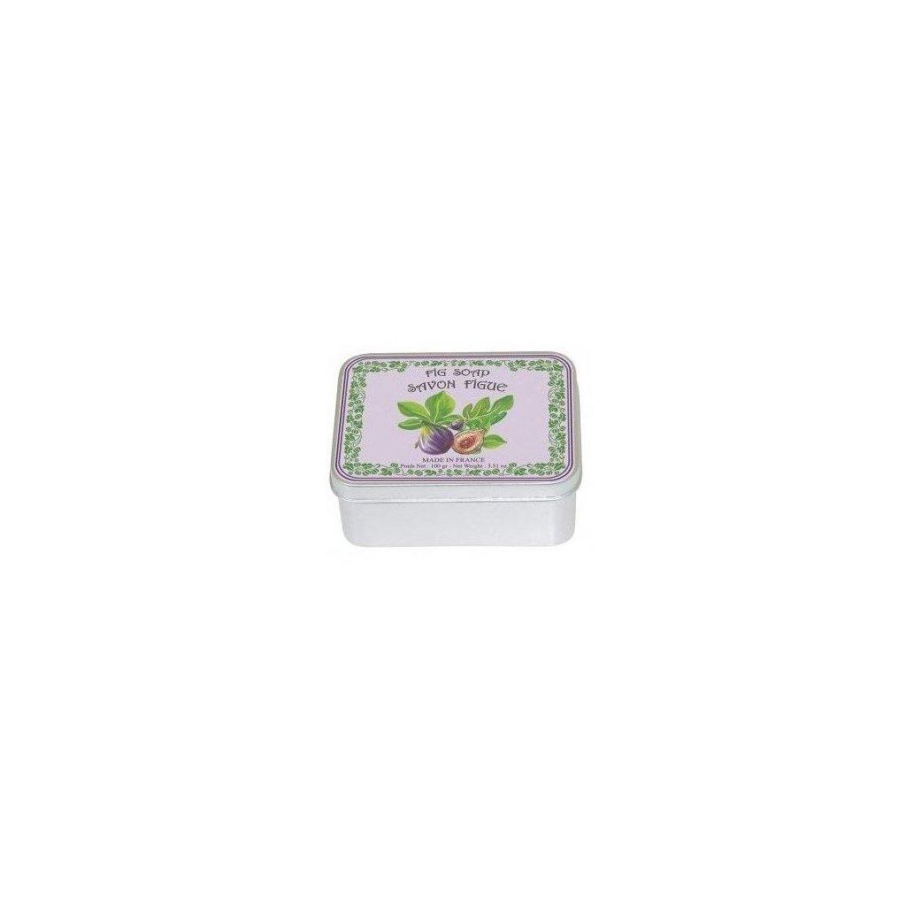 Toaletní mýdlo v kovové krabičce, Fíky, 100g