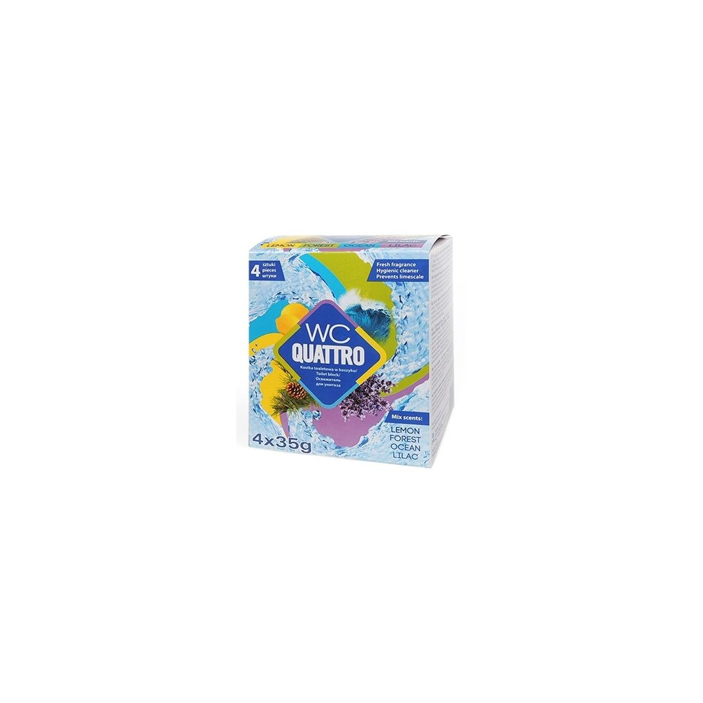 WC QUATRO závěsný Mix vůní 4x30g