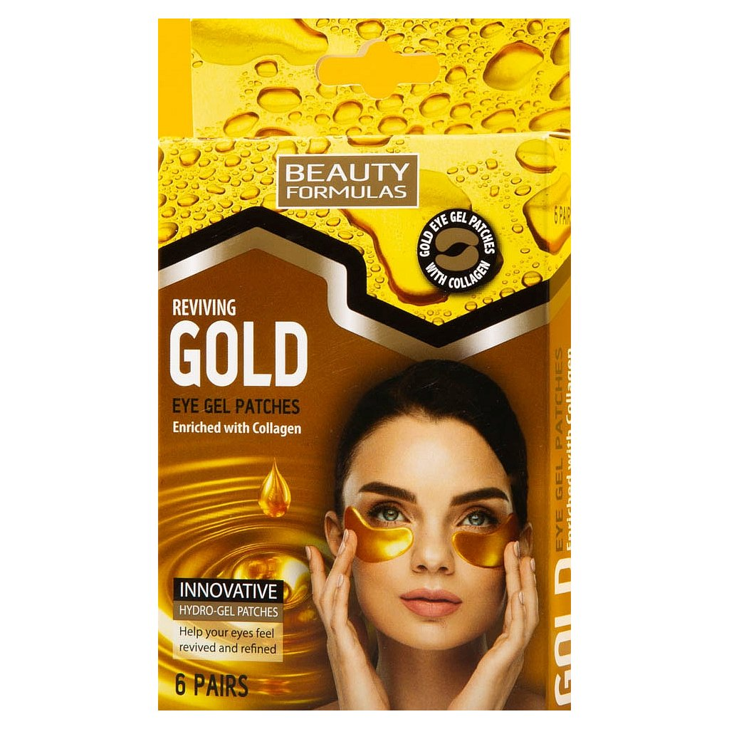 beauty formulas gold eye gel patches 6 pairs