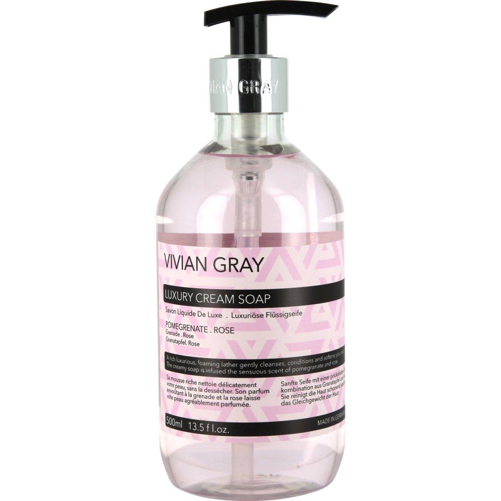 Krémové mýdlo Vivian Gray MODERN PASTEL Růže a Granátové jablko