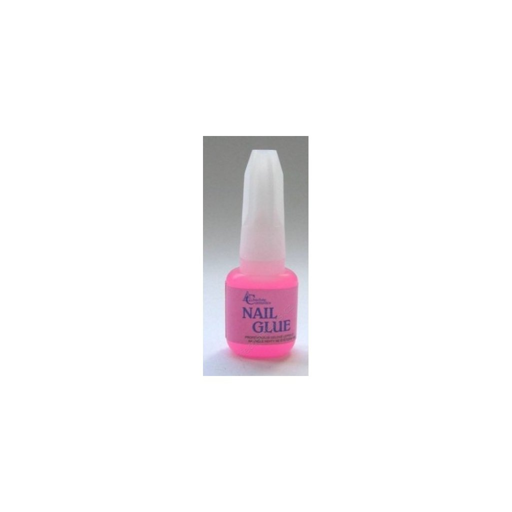 Lepidlo na umělé nehty se štětečkem gelové, 10g, růžové