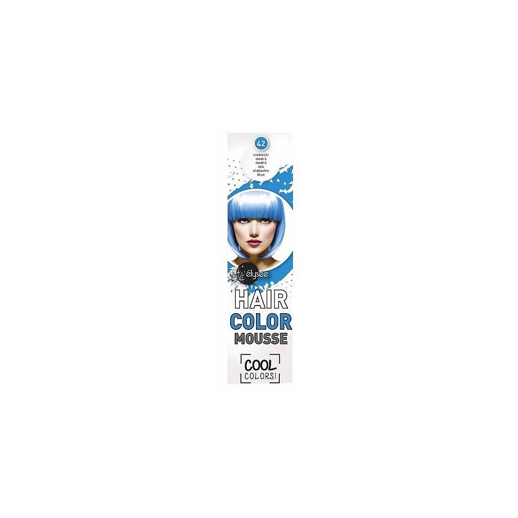 ÉLYSÉE Pěnové barevné tužidlo modrá, 75ml