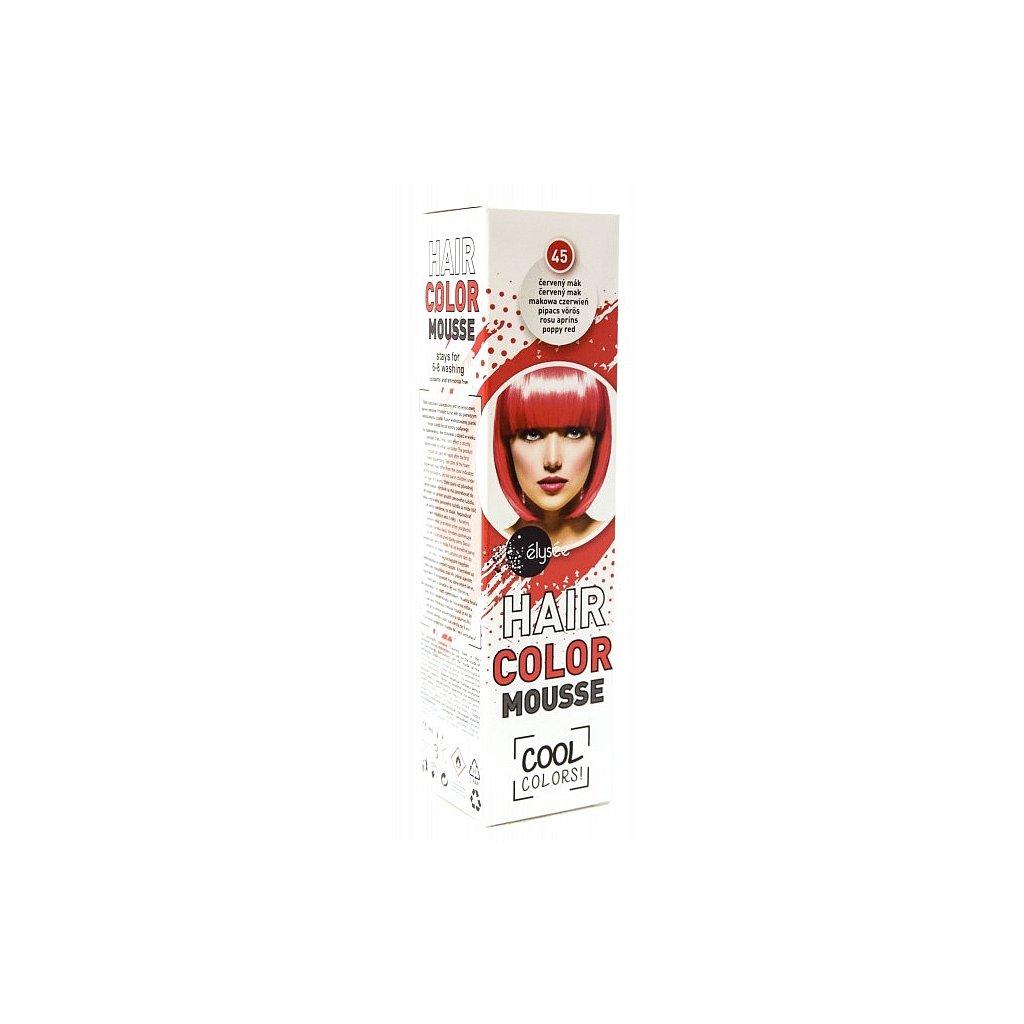 ÉLYSÉE Pěnové barevné tužidlo červený mák, 75ml