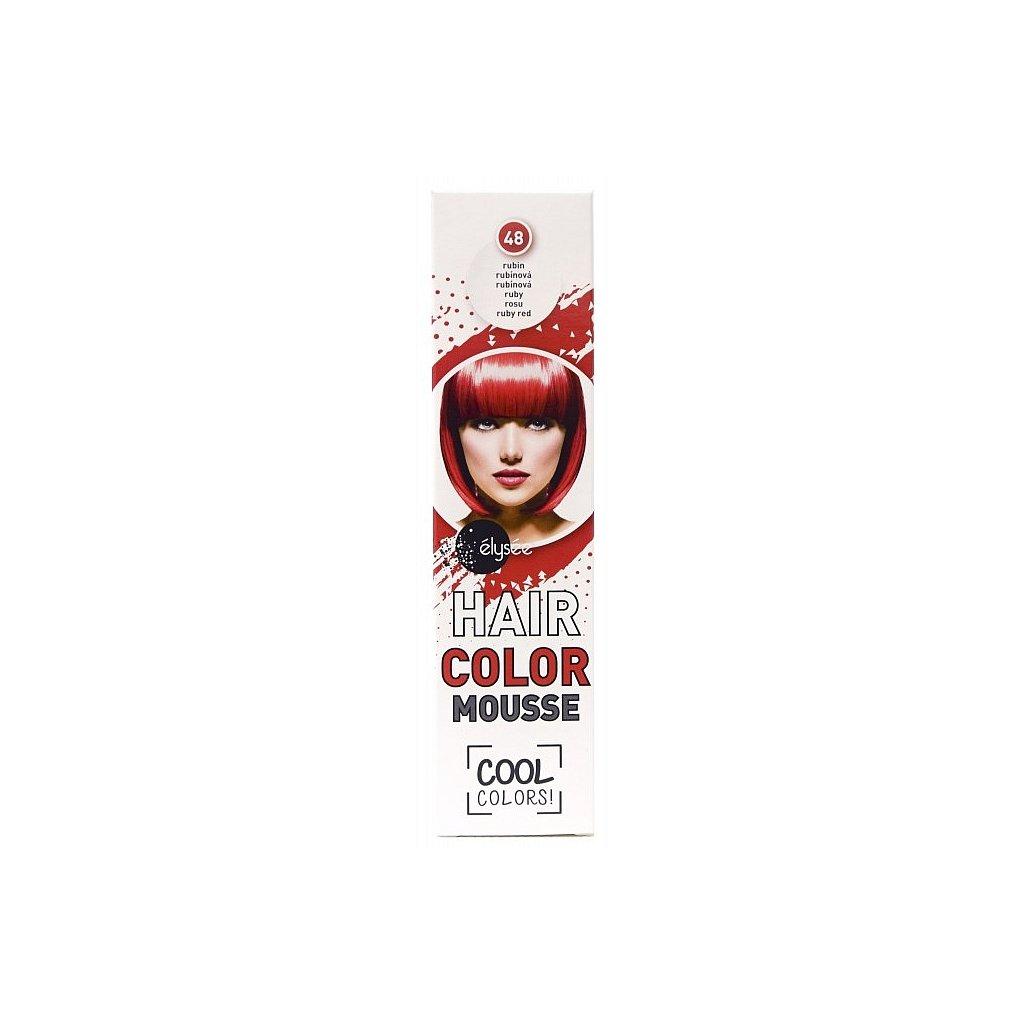 ÉLYSÉE Pěnové barevné tužidlo rubínová, 75ml