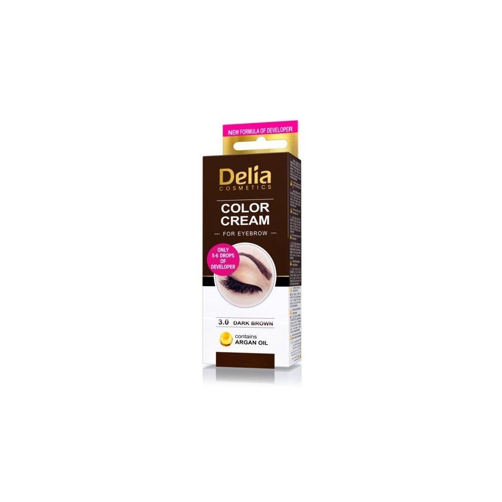 Delia Henna barva na obočí Tmavě hnědá
