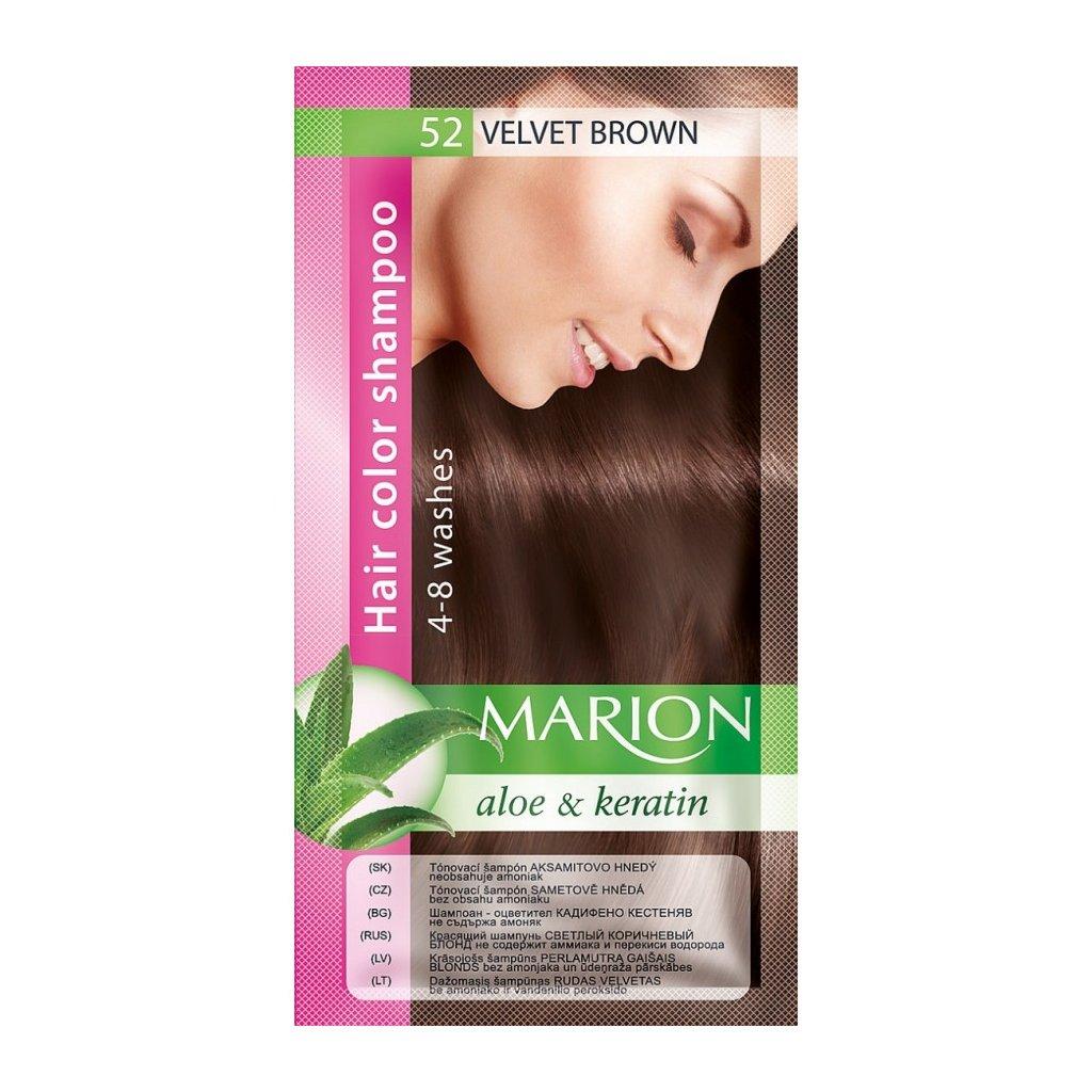 Tónovací šampon 52 SAMETOVĚ HNĚDÁ MARION