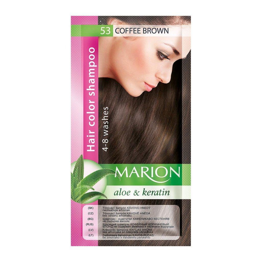 Tónovací šampon 53 KÁVOVĚ HNĚDÁ MARION