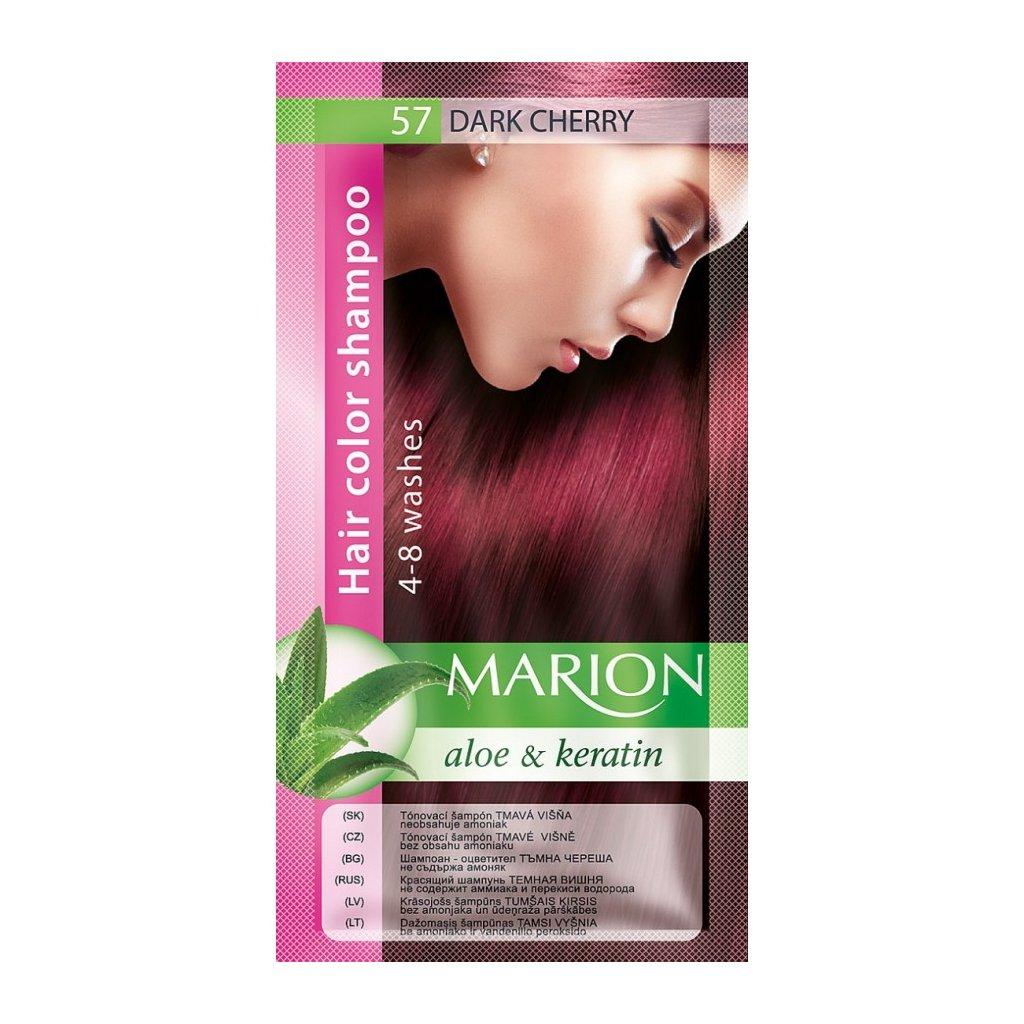 Tónovací šampon 57 TMAVÁ VIŠEŇ MARION
