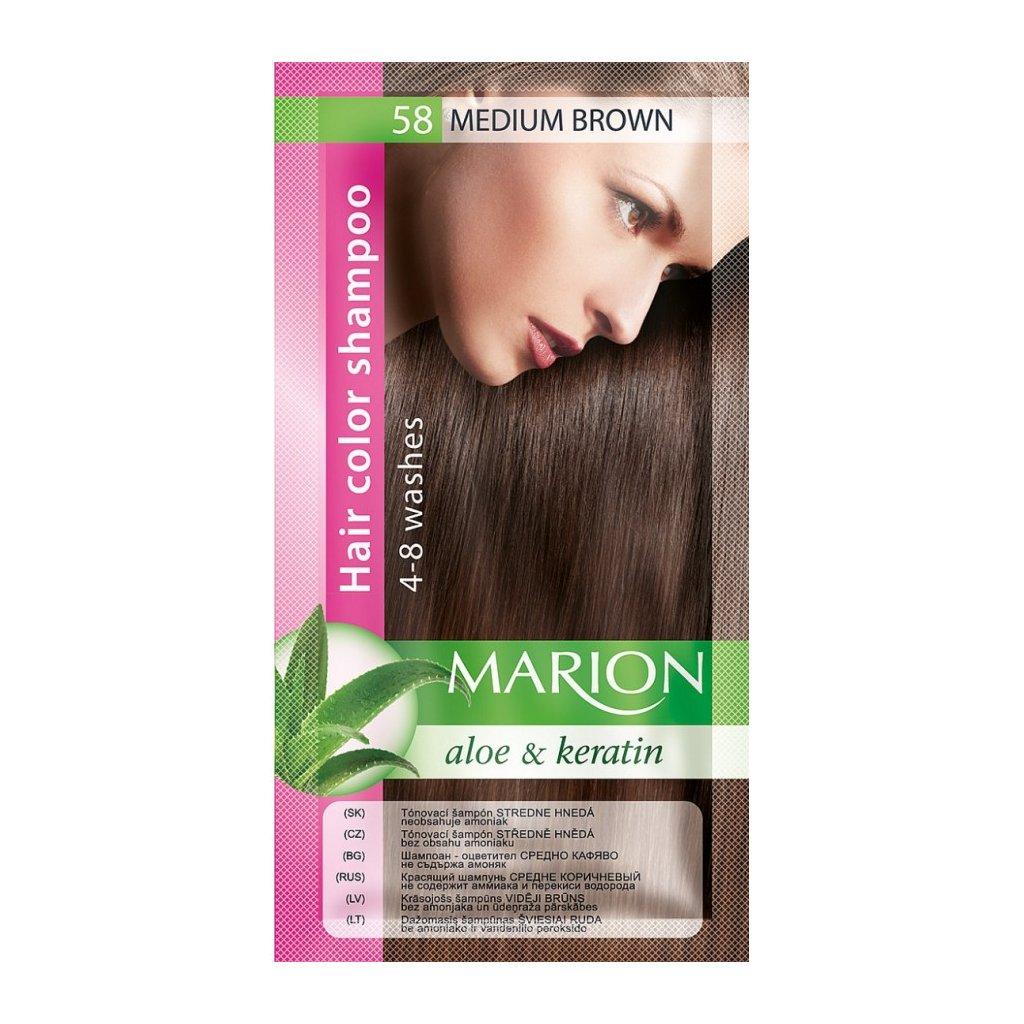 Tónovací šampon 58 STŘEDNĚ HNĚDÁ MARION