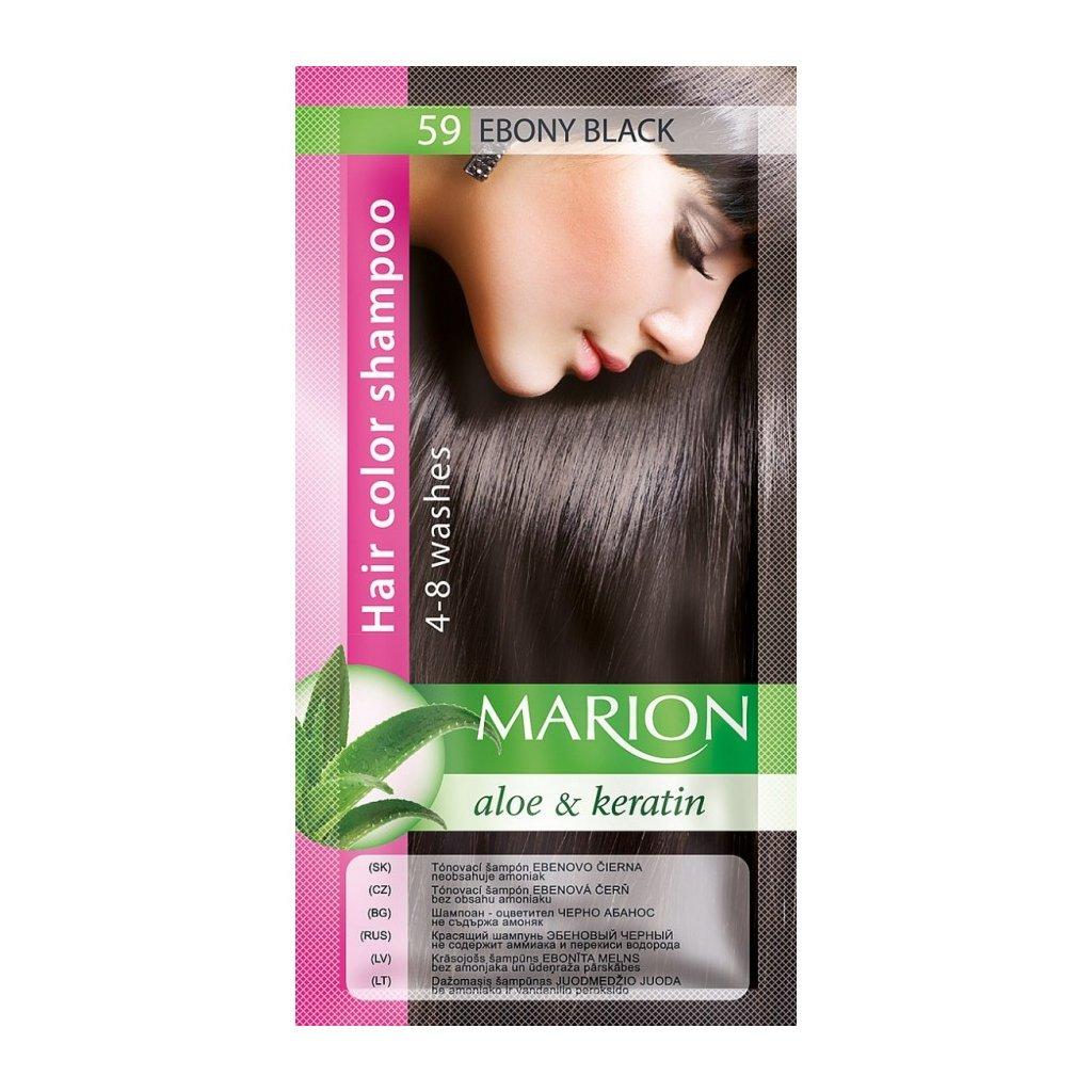 Tónovací šampon 59 EBENOVĚ ČERNÁ MARION