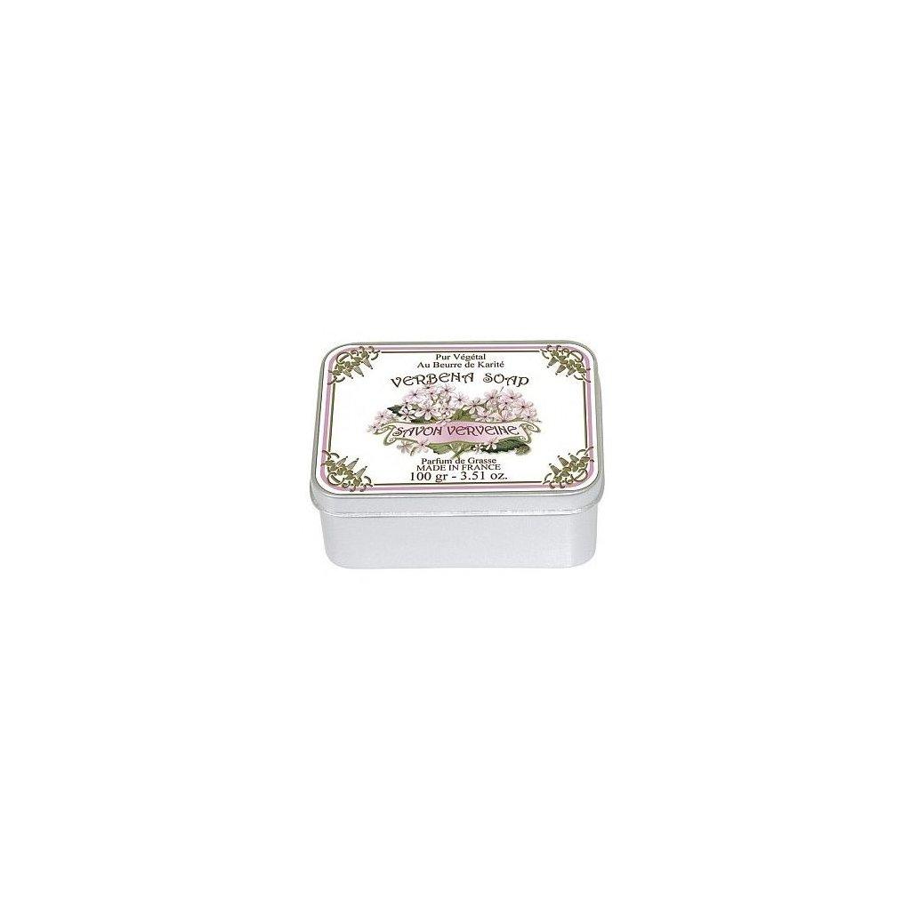 Toaletní mýdlo v kovové krabičce, Verbena, 100g
