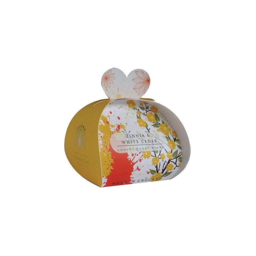 Anglické mýdlo Zínie a Cedr, 3x20g