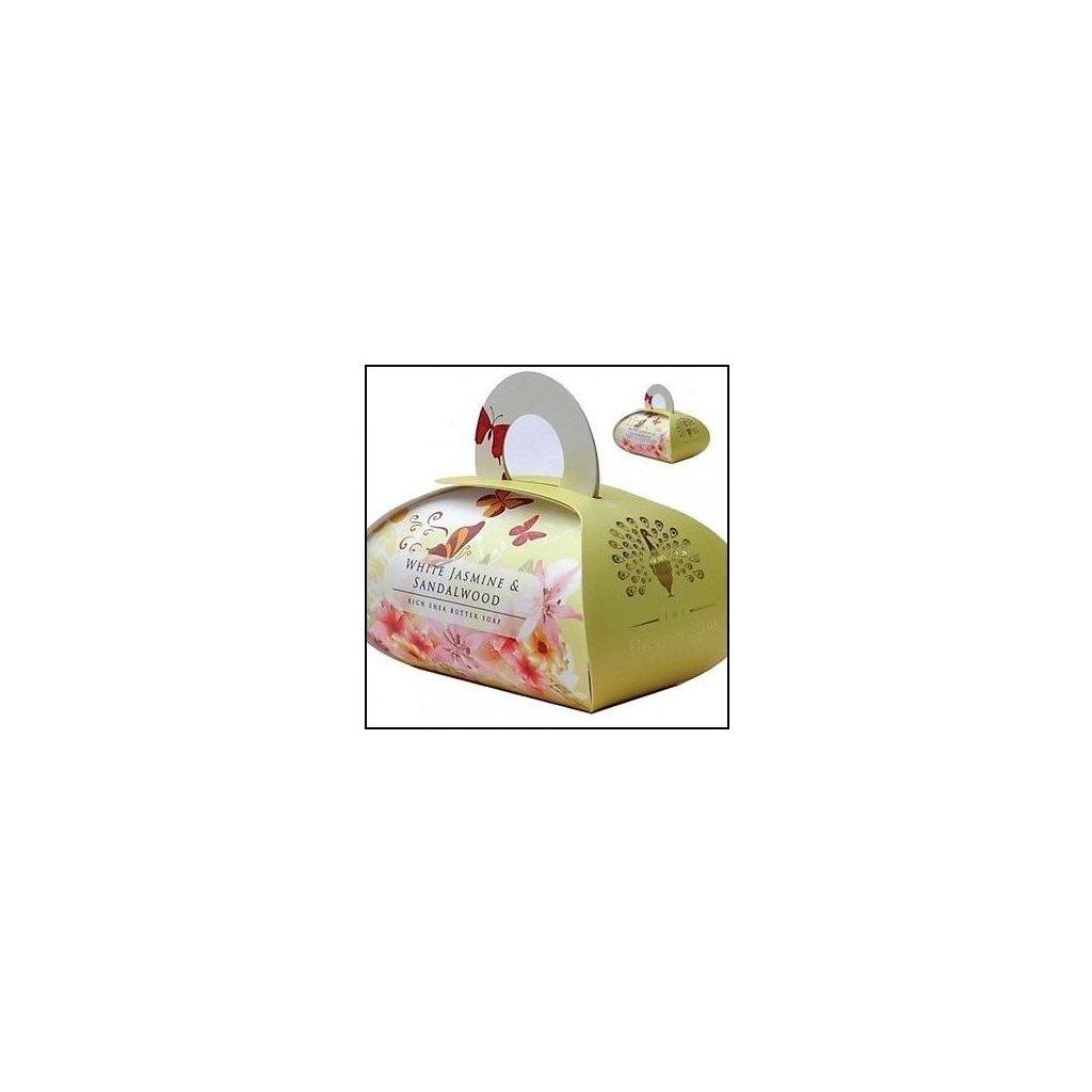 Anglické mýdlo Jasmín a Santalové dřevo, 260g