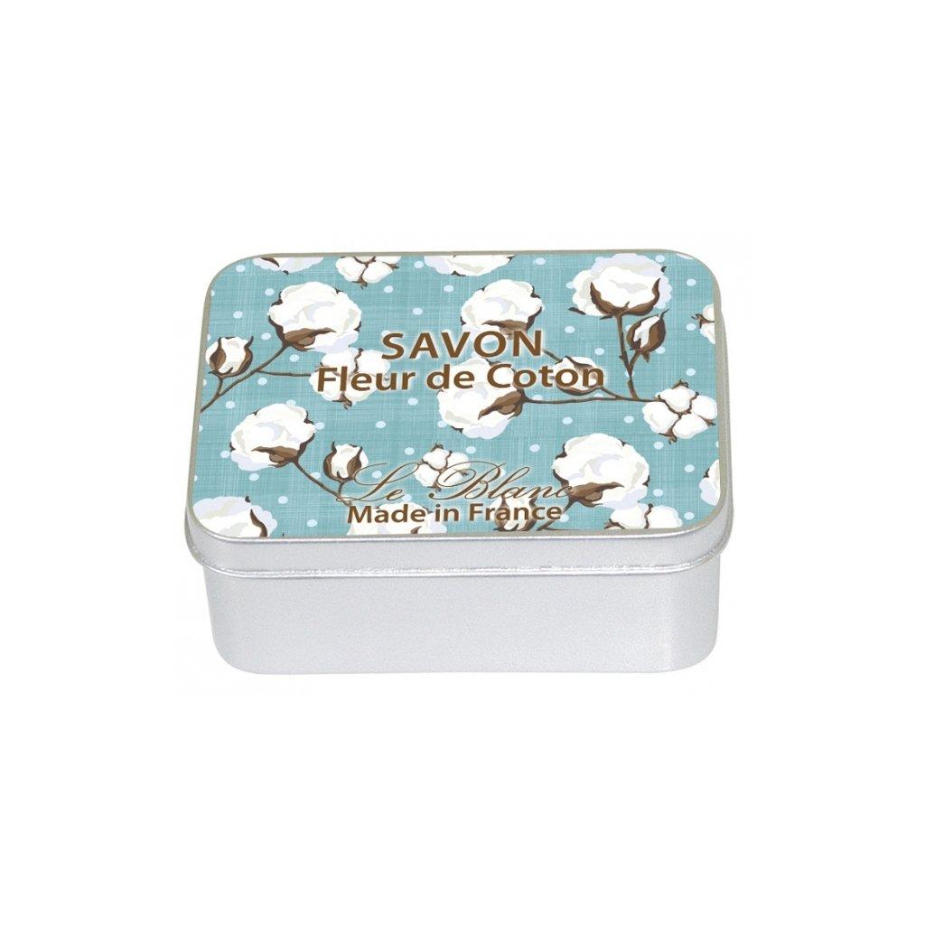 boite metal savon 100g fleur de coton p image 30415 grande