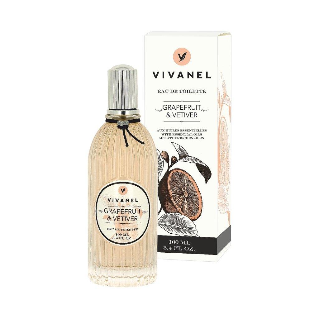 Toaletní voda VIVANEL Grapefruit a Vetiver, 100ml