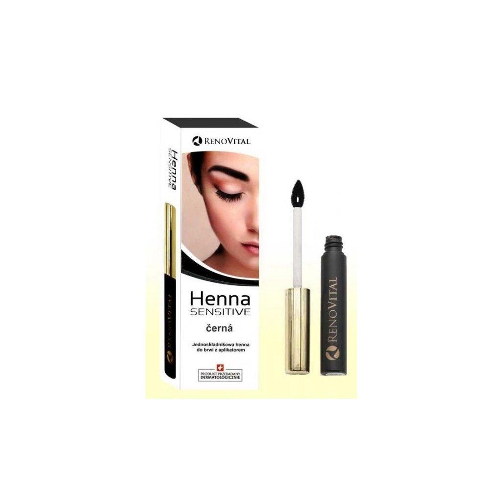 Henna na obočí Černá s aplikátorem, 6g