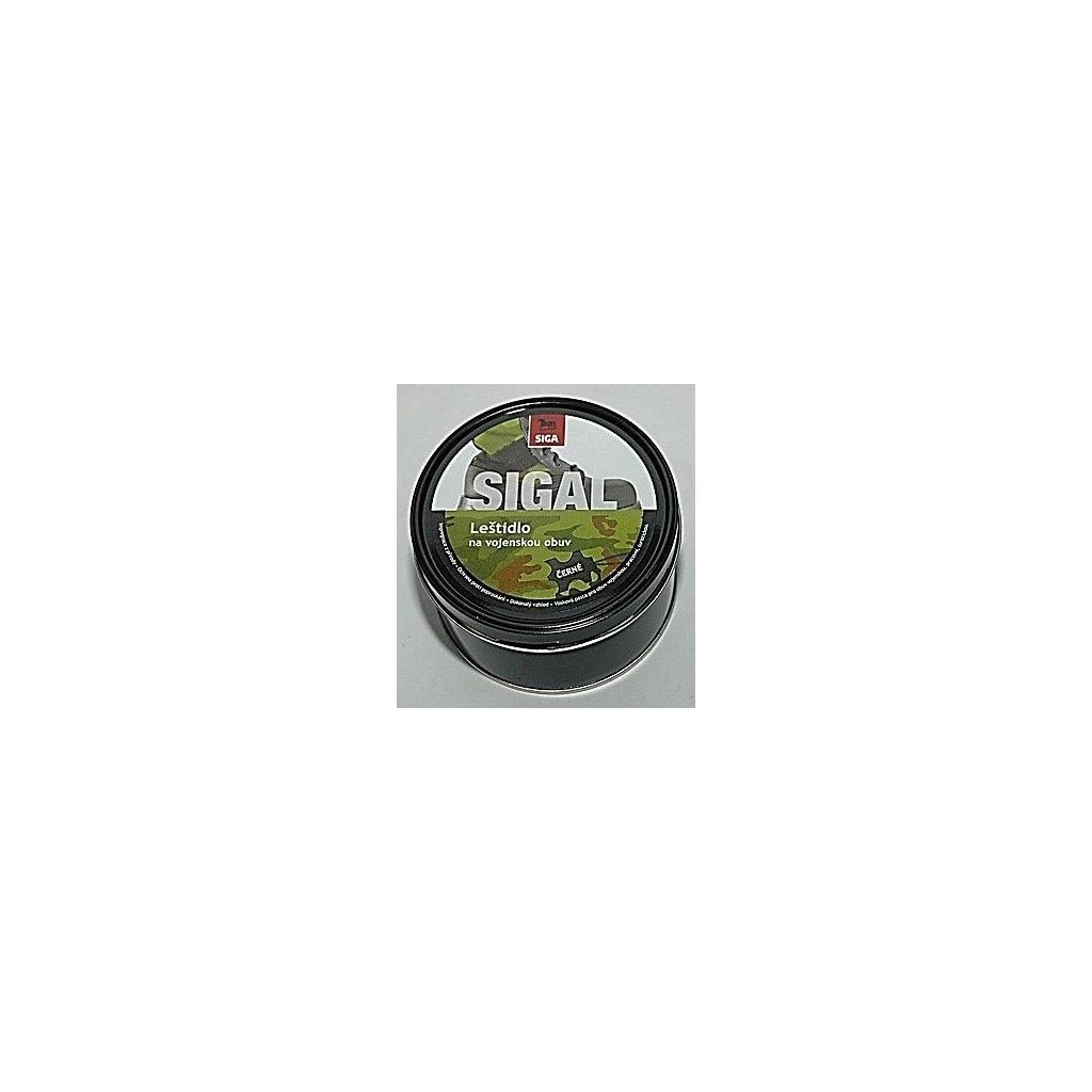SIGAL Vojenské leštidlo černé, 250g