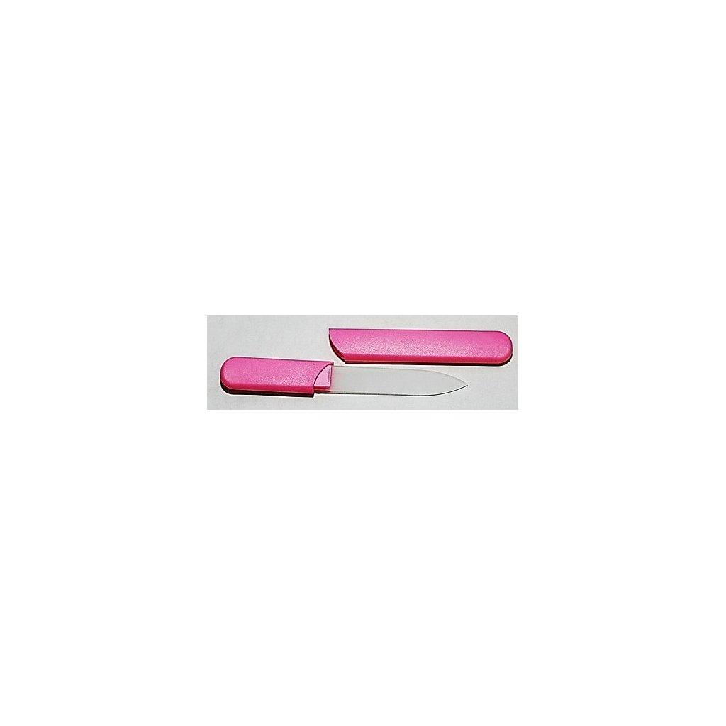 Skleněný pilník s pouzdrem, 12cm