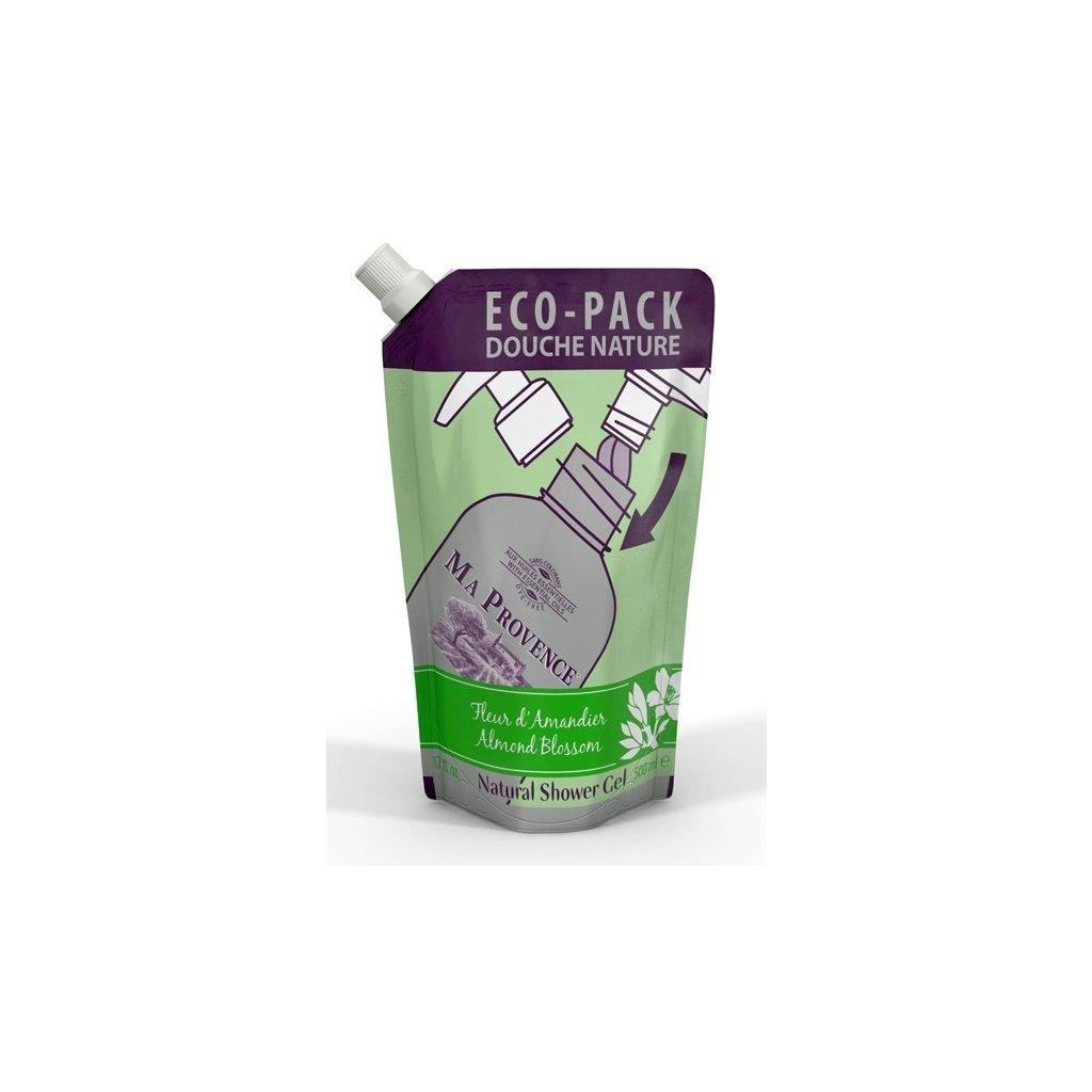 Přírodní sprchový gel Mandle, náhradní balení, 500ml Ma Provence