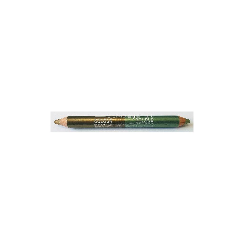 Oční stíny tužkové DUO Zelená - Bronzová