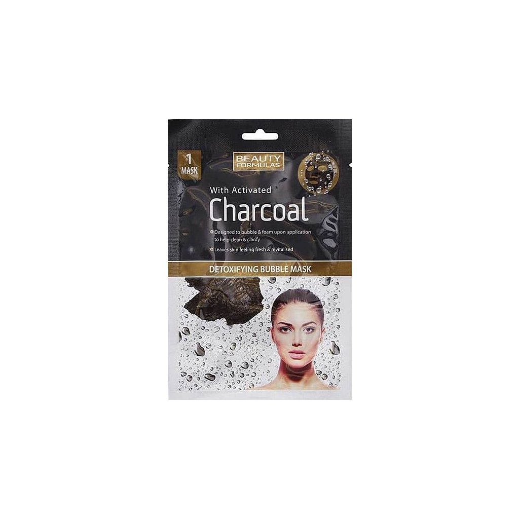 beauty formulas charcoal detoxifying bubble mask 1pc p5832 9464 image