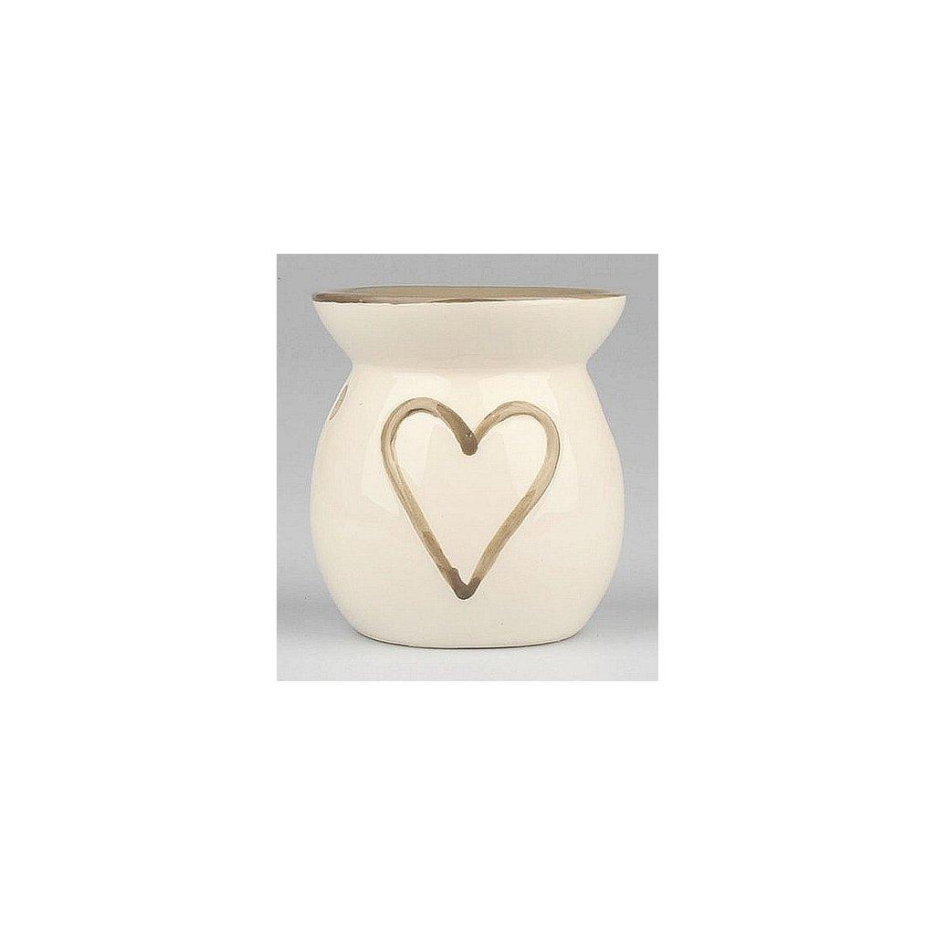 Aromalampa keramická Srdce