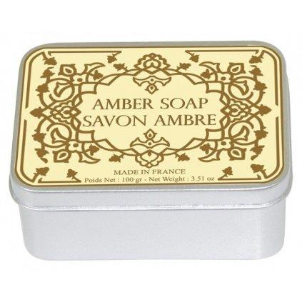Toaletní mýdlo v kovové krabičce, Ambra, 100g